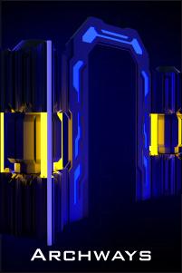 led laser tag arena archways