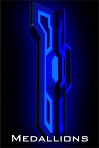 led laser tag arena medallion