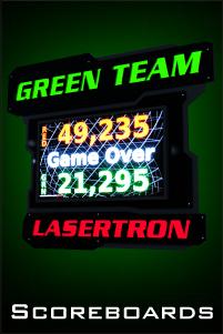 led laser tag arena scoreboards
